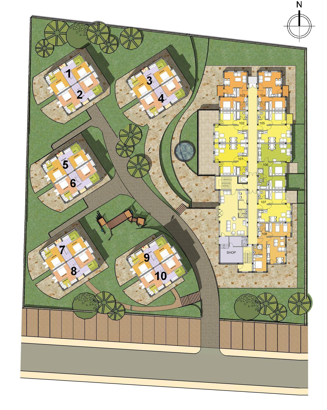 Apartments in bulgaria apartments for sale in borovets for Apartment site plan