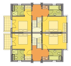 Floor plan of Chamkoria Chalets II - Second Floor