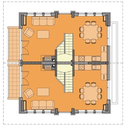 Floor plan of Chamkoria Chalets II - Third Floor