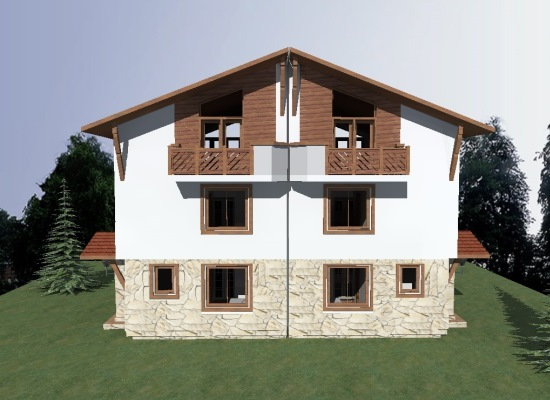 Chalet C - rear elevation