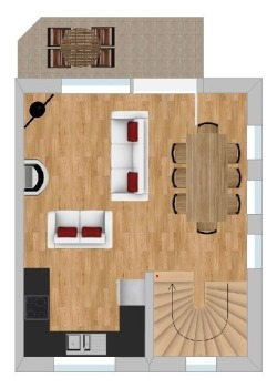 Floor plans of Type A chalet