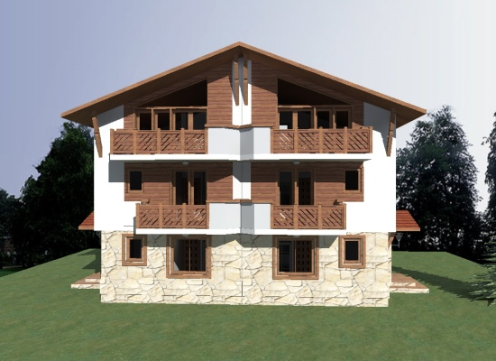 Chalet A - front elevation