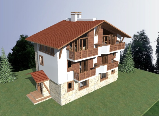 Chalet A - side elevation